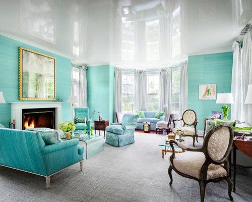 Gray carpet living room design ideas renovations photos for Green carpet living room ideas