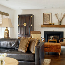 Asian Living Room by Ana Donohue Interiors