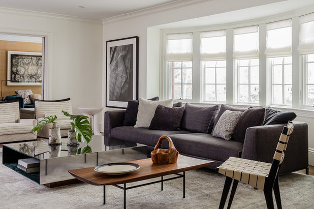 Transitional Living Room by Annie Hall Interiors
