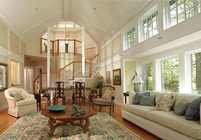 Traditional Living Room by Michael Kim Assoc