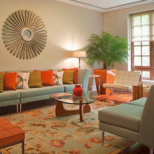 Inspiration for a contemporary living room in DC Metro with beige walls.
