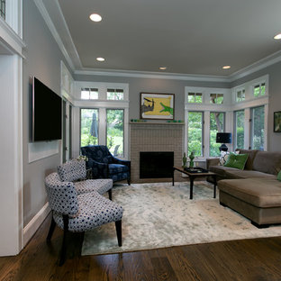 Living room - contemporary living room idea in DC Metro