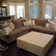 Contemporary Living Room by Chic Abode Interiors, LLC