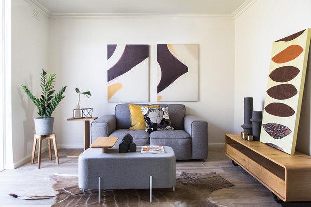 Contemporary Living Room by Shmik Interiors