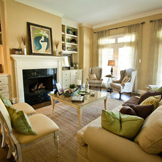 Traditional Living Room by Kate Zylstra, LEED AP BD+C