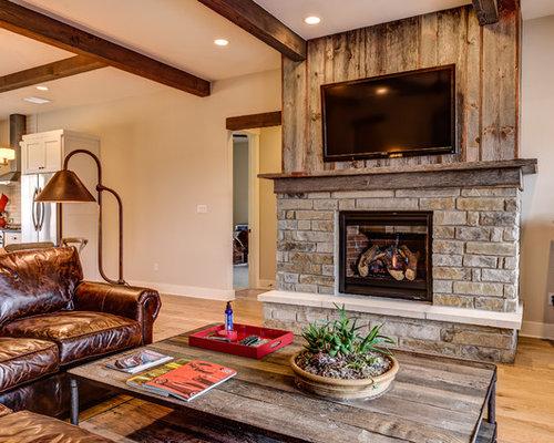 Barnwood Fireplace Houzz