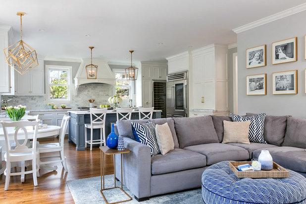 Transitional Living Room by Christine Sheldon Design