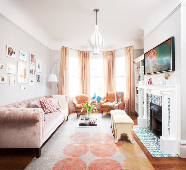 Transitional Living Room by Coddington Design