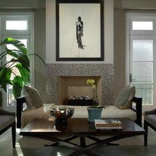 Contemporary Living Room by Jillian O'Neill Interior Design