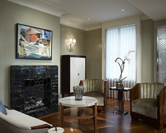 Art Deco Living Room Houzz