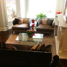 Living Room by Holzman Interiors, Inc.