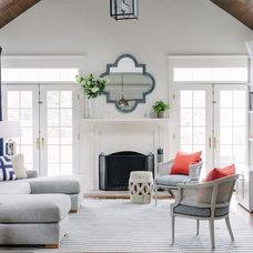 Transitional Living Room by Lauren Nelson Design