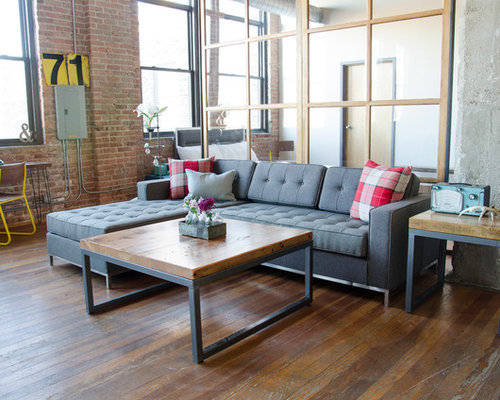 Small Industrial Living Room : Small Industrial Living Room Design Ideas, Renovations & Photos
