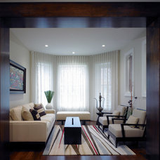 Transitional Living Room by Foster Dale Architects, Inc.