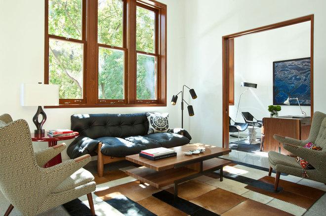 Contemporary Living Room by Stephanie Wohlner Design