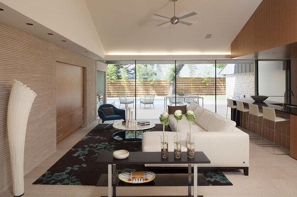 Modern Family Room by Webber + Studio, Architects