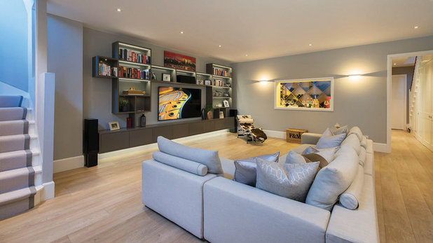 Contemporary Living Room by Moretti Interior Design Ltd
