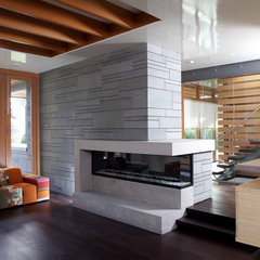 contemporary living room by Kevin Vallely Design