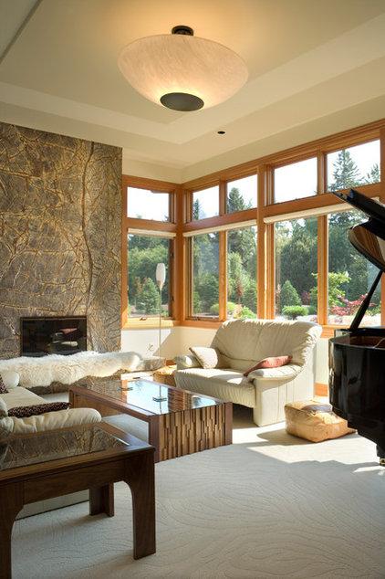 Eclectic Living Room by Alan Mascord Design Associates Inc