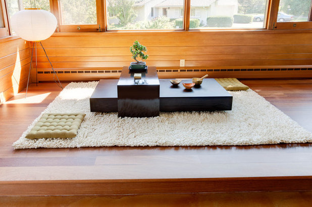 Midcentury Living Room by Genesis Architecture, LLC.
