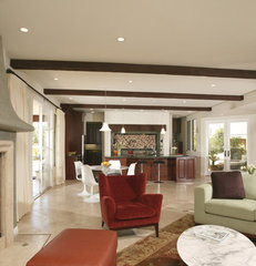 mediterranean living room by Christian Rice Architects, Inc.