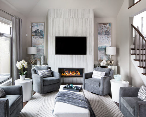 Mid-Sized Contemporary Living Room Design Ideas, Remodels & Photos ...
