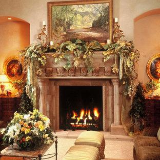 Bild på ett medelhavsstil vardagsrum