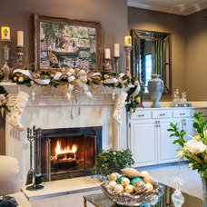 Traditional Living Room by SAJ Designs, LLC