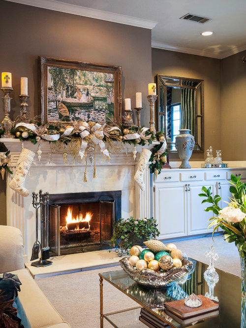 Fireplace decorating design ideas remodel pictures houzz for Living room decor ideas houzz