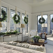 Traditional Living Room Christmas decorations by Chris Hutchins.