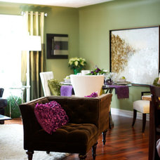 Contemporary Living Room by Marie Hebson's interiorsBYDESIGN Inc.