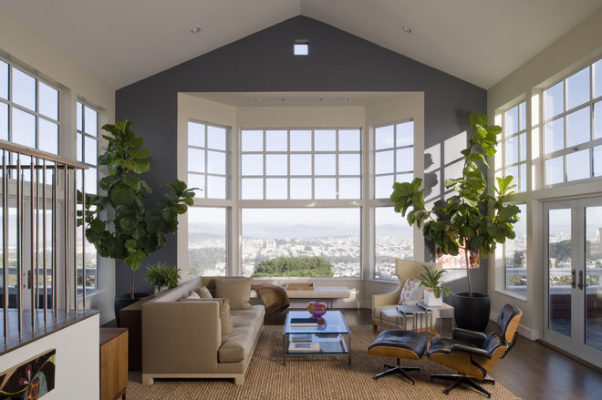 Transitional Living Room by John Lum Architecture, Inc. AIA