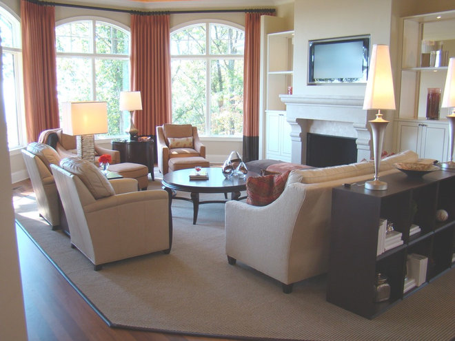 Contemporary Living Room by christy johnson