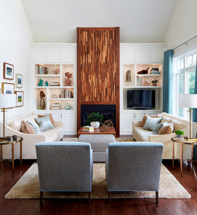 Transitional Living Room by Design for Conscious Living®
