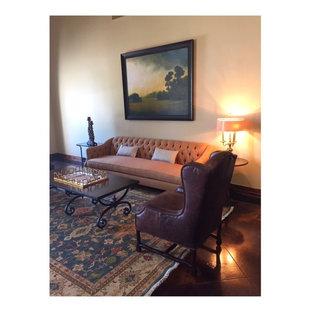 Elegant living room photo in Austin