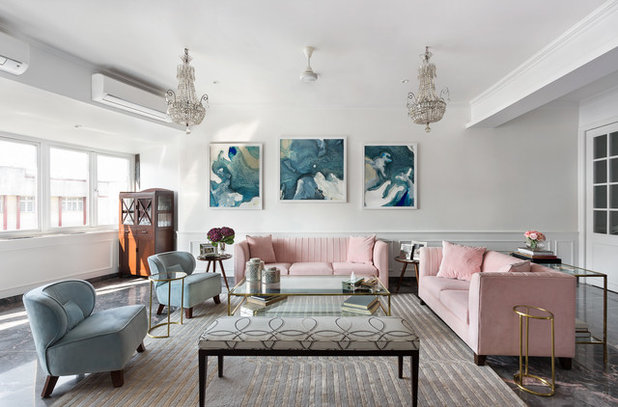 Contemporary Living Room by Essajees Atelier