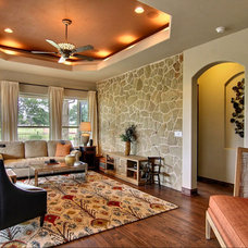 Traditional Living Room by Opus Homes Texas