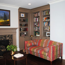 Traditional Living Room by Will Johnson Building Company