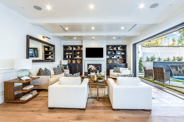 Transitional Living Room by Extreme Developers, Inc