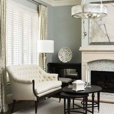 Contemporary Living Room by Linda McDougald Design | Postcard from Paris Home