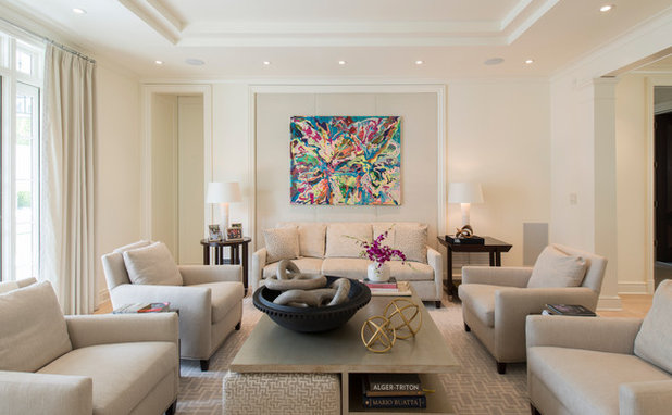 Traditional Living Room by Palindrome Design, LLC