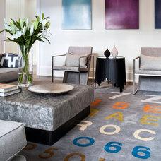 Transitional Living Room by Jennifer Worts Design Inc.