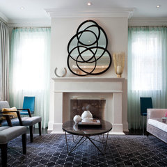 contemporary living room by Jennifer Worts Design