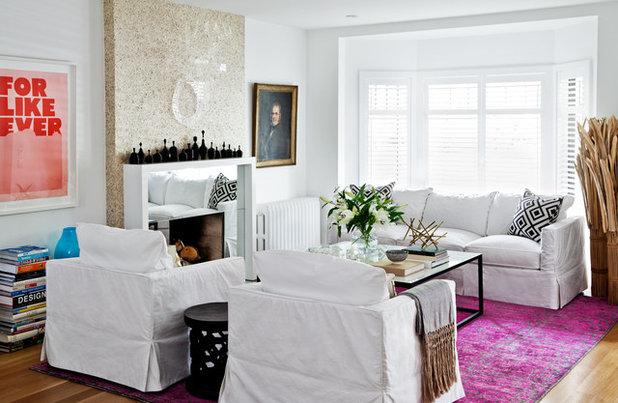 Contemporary Vardagsrum by Jennifer Worts Design