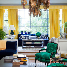eclectic living room by amanda nisbet