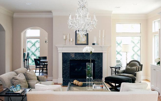 Traditional Living Room by Debra Villeneuve Interiors