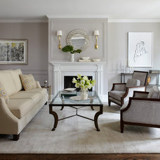 traditional living room by kim scodro interiors