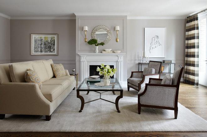 Traditional Living Room by kim scodro interiors