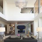 Market street penthouse living room modern living room - Appartement duplex winder gibson architecte ...