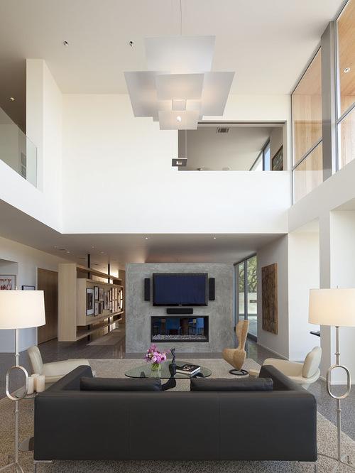 High Ceiling Living Room Houzz